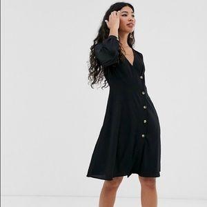 NWT Brave Soul Ahana Button Down Dress in Black